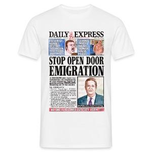 Daily Express: Emigration T-shirt - Men's T-Shirt