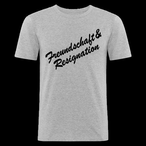 Freundschaft&Resignation - Männer Slim Fit T-Shirt