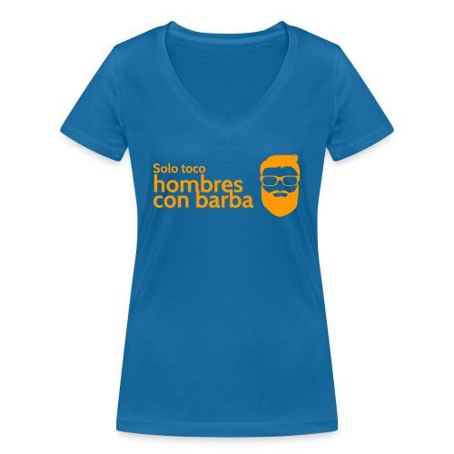 Solo toco hombres con barba Nicole Edition - Frauen Bio-T-Shirt mit V-Ausschnitt von Stanley & Stella