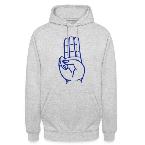 StammesPulli II Logo/Schrift: Blau, Pullifarbe: wählbar - Unisex Hoodie