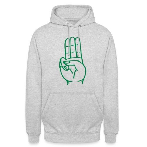 StammesPulli II Logo/Schrift: Grün, Pullifarbe: wählbar - Unisex Hoodie
