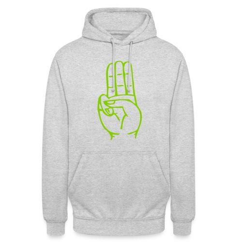 StammesPulli II Logo/Schrift: Apfelgrün, Pullifarbe: wählbar - Unisex Hoodie