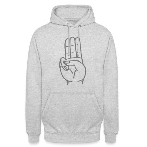 StammesPulli II Logo/Schrift: Grau, Pullifarbe: wählbar - Unisex Hoodie