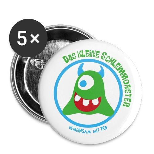Button Schleimmonster helle Hörnchen - Buttons groß 56 mm