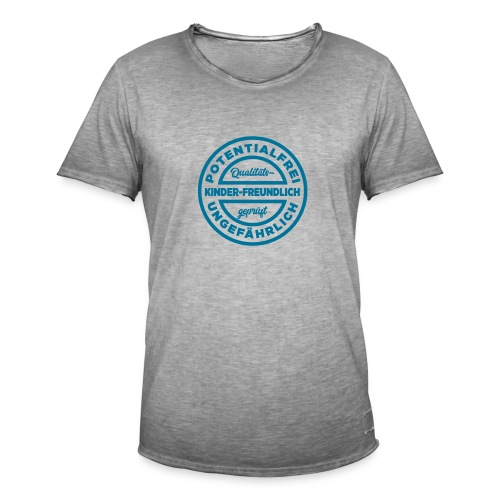 Potentialfreies Shirt - Männer Vintage T-Shirt