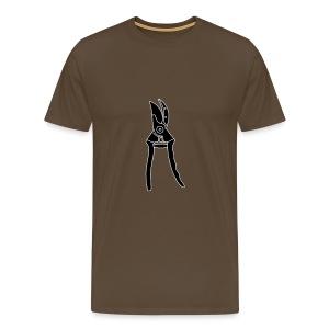 Gartenschere Rosenschere 2 - Männer Premium T-Shirt
