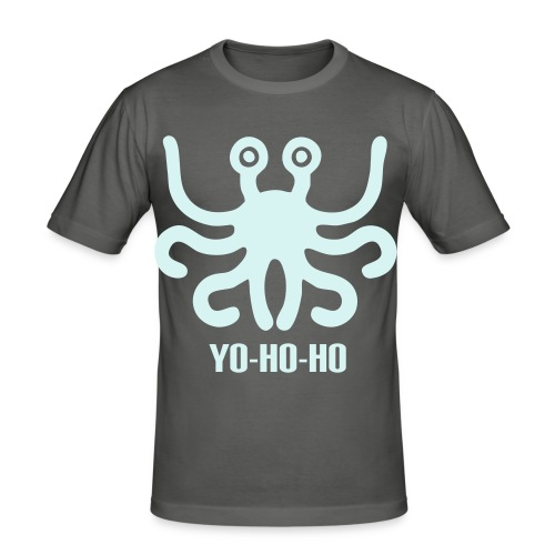 Flying spaghetti monster - YOHOHO - glow in the dark - slim fit T-shirt