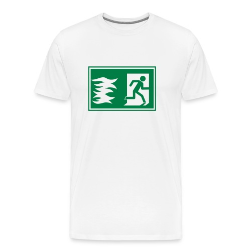 T-Shirt mit Notausgang / Feueralarm Symbol - Männer Premium T-Shirt