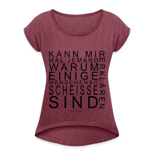 Frauen T-Shirt - Frauen T-Shirt mit gerollten Ärmeln