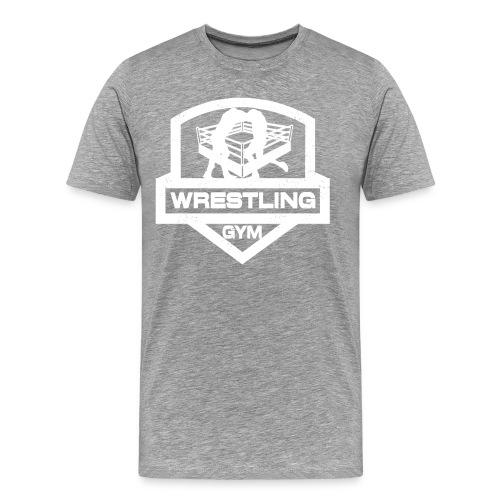 Wrestling Gym Shirt Weißes Logo - Männer Premium T-Shirt