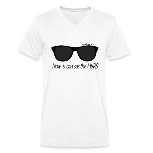 Relexon T-Shirt Brille - Männer Bio-T-Shirt mit V-Ausschnitt von Stanley & Stella
