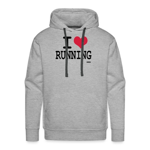 I love Running - Sweat-shirt à capuche Premium pour hommes