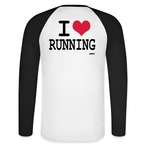 I love Running - T-shirt baseball manches longues Homme