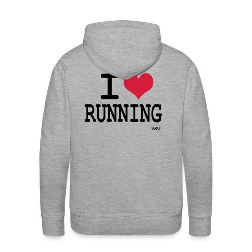 I love Running - Sweat-shirt à capuche Premium pour hommes