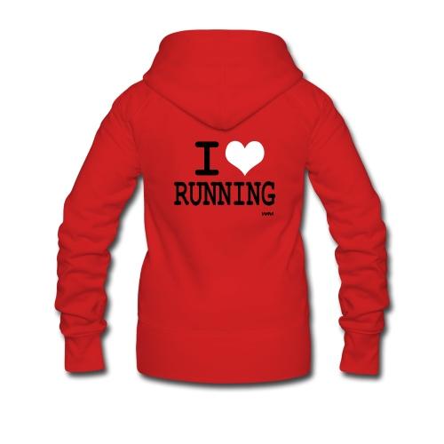 I love Running  ! - Veste à capuche Premium Femme