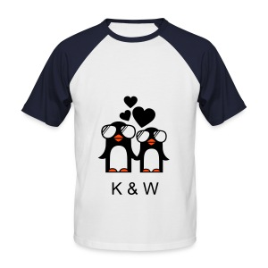 K & W - T-shirt baseball manches courtes Homme