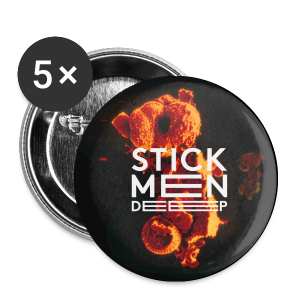 Stick Men - DEEP - Buttons small 25 mm