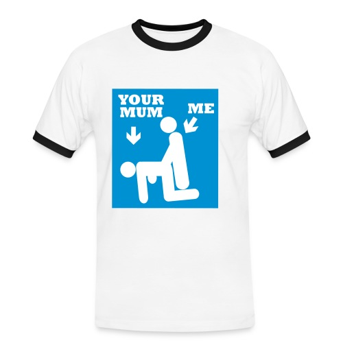 your mom t-shirt - Herre kontrast-T-shirt