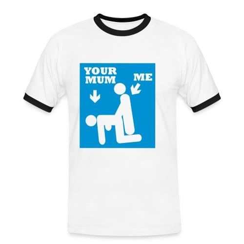 your mom t-shirt - Herre kontrast-T-shirt