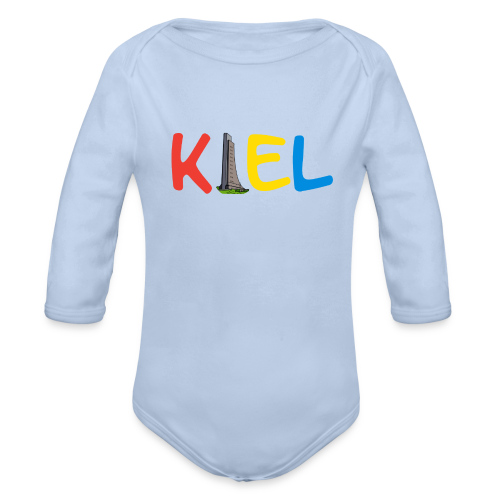 Baby Langarm Body - Laboer Ehrenmal / Kiel Schriftzug - Baby Bio-Langarm-Body