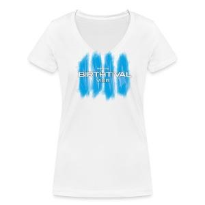 BIRTHTIVAL IIII VIER LOGO - T - female - Frauen Bio-T-Shirt mit V-Ausschnitt von Stanley & Stella