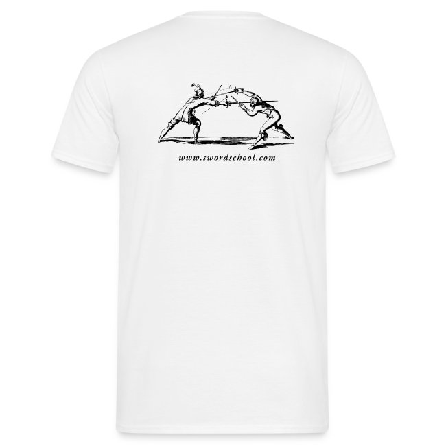 White SES T-shirt, black logos