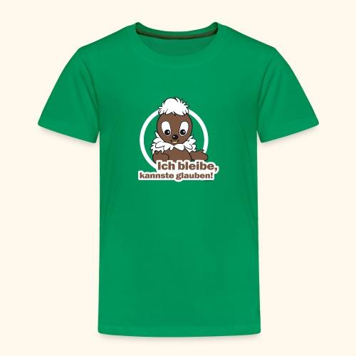 Kinder Premium T-Shirt Pittiplatsch Ich bleibe - Kinder Premium T-Shirt