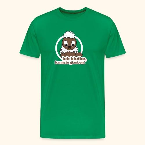 Männer Premium T-Shirt Pittiplatsch Ich bleibe - Männer Premium T-Shirt