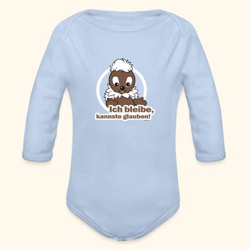 Baby Langarm-Body Pittiplatsch Ich bleibe - Baby Bio-Langarm-Body