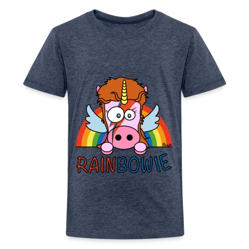 T-shirt Ado Unicorn, Licorne RainBow-ie - T-shirt Premium Ado