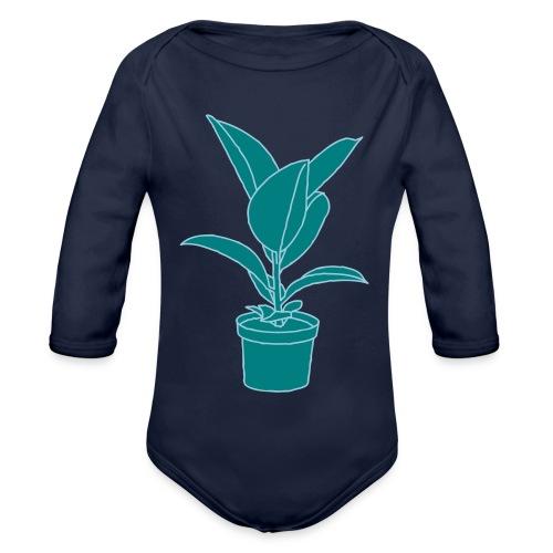 GUMMIBAUM Zimmerpflanze 2 - Baby Bio-Langarm-Body