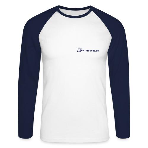 Langarm Shirt -navy- - Männer Baseballshirt langarm