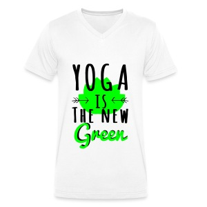 Yoga Is The New Green - T-shirt bio col V Stanley & Stella Homme