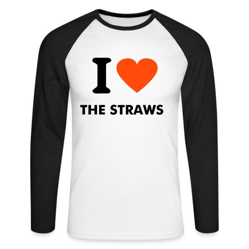 I love The Straws - T-shirt baseball manches longues Homme