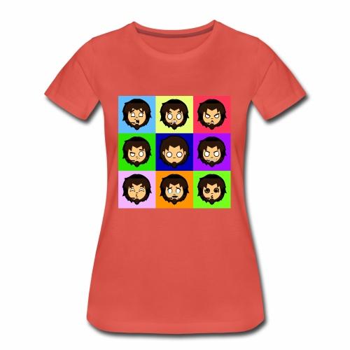 Moody Gamer (lady) - Women's Premium T-Shirt