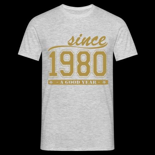 T-Shirt 1980, gold - Männer T-Shirt