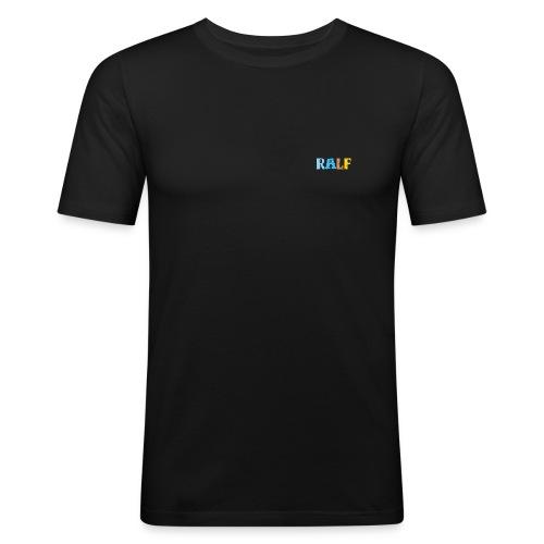 Ralf, Slimfit, XL, schwarz - Männer Slim Fit T-Shirt
