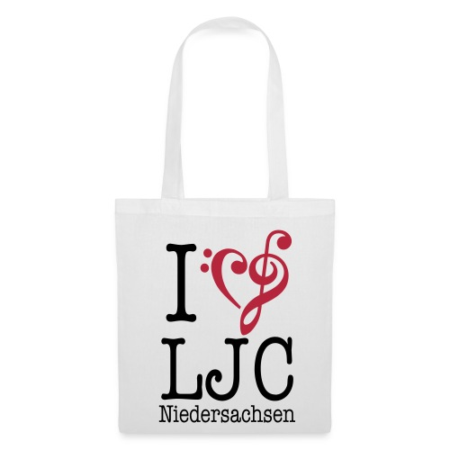 I♥LJC, Notentasche - Stoffbeutel