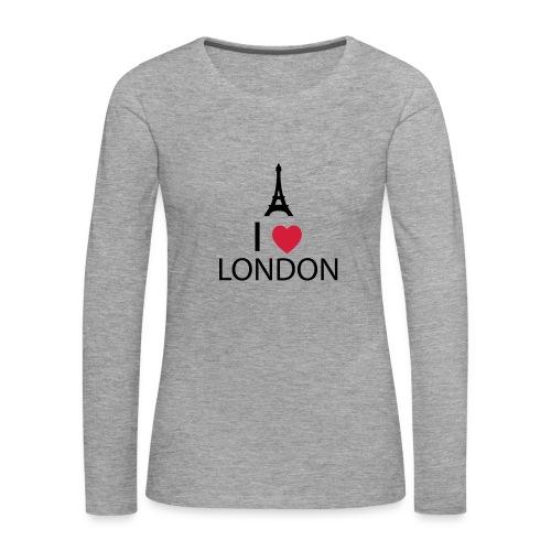 I love London - T-shirt manches longues Premium Femme