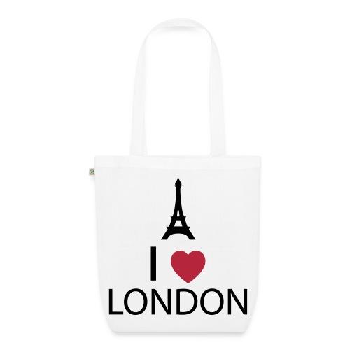 I love London - Sac en tissu biologique