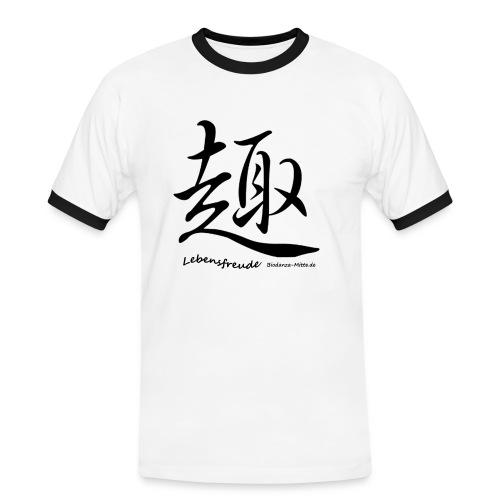 Biodanzashirt Lebensfreude - Männer Kontrast-T-Shirt