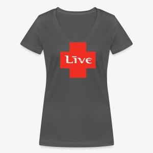 Female livefanclub.nl 2017 - Vrouwen bio T-shirt met V-hals van Stanley & Stella