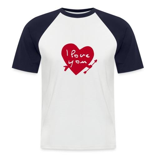 I LOVE U - T-shirt baseball manches courtes Homme