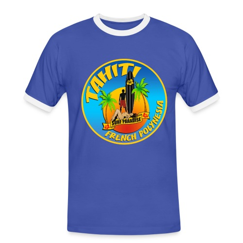 Tahiti Surfing Team - Men's Ringer Shirt