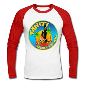 Tahiti Surfing Team - Men's Long Sleeve Baseball T-Shirt