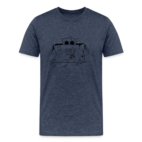 Tee-shirt homme chat caché - T-shirt Premium Homme