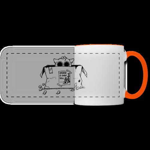 Mug chat caché - Mug panoramique contrasté et blanc
