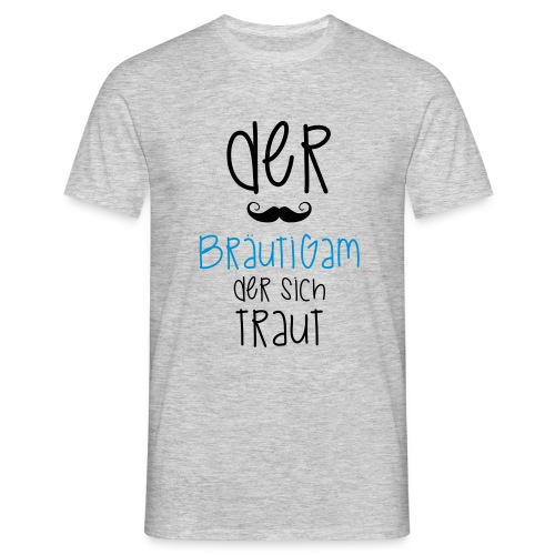 Der Bräutigam der sich traut mit Bart - Männer T-Shirt