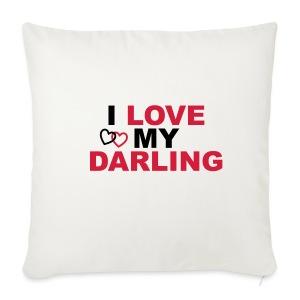I LOVE MY DARLING - Sofakissenbezug 44 x 44 cm