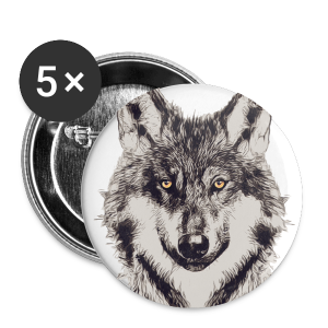 WOLF OR SHEPHERD - Buttons klein 25 mm